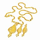 24K Gold Plate Stylish CZ Jewelry Set-Cubic Zirconia Jewelry Set 90111-02 (SZY1712)