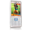 MFU M6 Dual Card Quad Band Dual Camera TV  Ultra-thin Cell Phone Silver