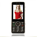 X600 Dual Card Quad Band Dual Camera TV Function Flat Touch Screen Cell Phone Black(SZRW287)