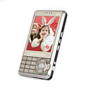 T1000I Dual Card Quad Band Analogue TV Touch Screen Cell Phone Black