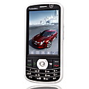 CESIM V80 Dual Card Quad Dual Camera Band TV Touch Screen Cell Phone Black