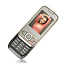 1866 Dual Card Quad Band Dual Camera Ultra-thin Slip Cell Phone Black