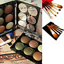 Free Professional Cosmetic Brush Set + 6 Colors Eyeshadow Palette 8