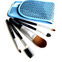 5Pcs Mini Cosmetic Brush + Free Shiny Blue Case 5903153N-B (HZS020)