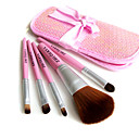 5 Pcs Cosmetic Brush Set With Free Pink Case 590315N (HZS014) - Travel Size