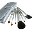 5 Sets Mixed Hair Cosmetic Brush Setes With Free Sliver Leather Case 790318M.W (HZS005)