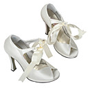 Top Quality Satin Upper High Heel Peep-toes With Bow Wedding Shoes/Bridal Shoes (A216) .More Colors Aailable