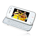 nooc N97 Style Single Card Quad Band Dual Camera Flat Touch Screen Cell Phone White (2GB TF Card)(SZMC0090)