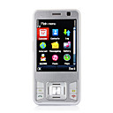 G3 Quad Band Dual Card Dual Standby Dual Camera JAVA Flashlight Flat Touch Screen Cell Phone Silver (2GB TF Card)(SZ05440323)