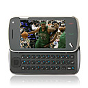 Dual Card Quad Band Dual Camera Flashlight TV JAVA QWERTY Keypad 3.2 '' Touch Screen Cell Phone Black