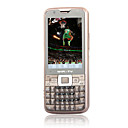 h969 Dual-Karte Dual-Kamera Quad-Band-WLAN-TV-Funktion Touchscreen QWERTY Tastatur Handy braun (2GB Karte tf) (sz00720356)