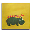 Hand Made Abstract Animal Painting - Free Shipping (0695 -AB-548)