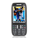 E75 Quad Band Dual Card Dual Standby Flat Touch Screen Bar Cell Phone Black (2GB TF Card)