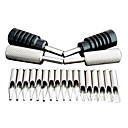 4x Tattoo Machine Grips 17x Stainless Steel Tips Set
