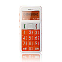 ZTC L488 Single Card Big Keypad for Daddy with Torch Light Cell Phone Orange and White