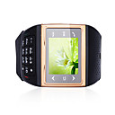 S16 Single Card Quad Band Bluetooth Compass Touch Screen Watch Cell Phone Black and Golden (2GB TF Card)
