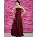 Sheath/Column Strapless Floor-length Taffeta Mother of the Bride Dress