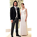 1 Button  Center-vented Notch Lapel Standard Wool  Groom Wear/ Tuxedo/ Men's Suit Jacket & Pants