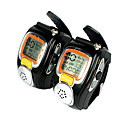 A Pair of Watch Style Walkie Talkie Black