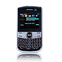 K833 JAVA QWERTY Keypad Quad Band Dual Card Bluetooth Dual Camera FM TV Cell Phone Black (2GB TF Card)(SZ05151030)