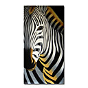 Stretched Abstract Handmade Animal Painting Zebra (0250 -CH-01)