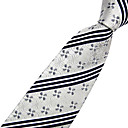 100% Silk Arrow Dyed Saika Gray Tie Groom Wear Accessories