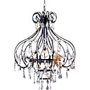 Iron 10-light Crystal Chandelier(0863-4551)