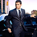 Single-Breasted 2 Button Side-vented Notch Lapel Wool Groom Wear/ Tuxedo/ Men's Suit Jacket and Pants(PMSSXZ0002)