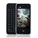 E2000 WIFI TV Java Dual Card Quad Band QWERTY Keypad Dual Camera 3.2 Inch Cell Phone Black (2GB TF Card and Leather Case)