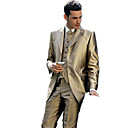 Single-Breasted 3 Button Non-vented Notch Lapel Wool Polyester Groom Wear/ Tuxedo/ Men's Suit Jacket and Pants(PMSSXZ0061)