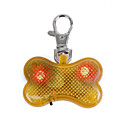 Small Breed Button Pet Blinkers With Yellow Flashlight