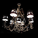 Crystal 6-light Black Chandelier(0860-HQ6833-6)