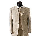 Single-Breasted 4 Button Non-vented Notch Lapel Wool Groom Wear/ Tuxedo/ Men's Suit Jacket and Pants (PMLFXZ0049)