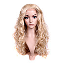 Hand Tied Style Lace Front Long Synthetic Light Blonde Curly Hair Wig
