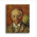Stretched Canvas Handmade Portrait of Alexander Reid Painting by Vincent Van Gogh  0192-YCF103230