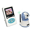Home Digital Wireless 2.4 Inch TFT LCD Two-way Speak Receiver and Day/Night CMOS Baby Monitor Camera Kit