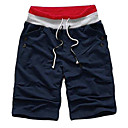 New Arrival Men's Short Straight Leg Relaxed Fashion White Grey Yellow Blue Cotton Pant (0531-5.31-5)