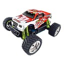 1/16 Scale R/C Gas Powered 4WD Monster Truck Red&White (TPCT-1651RW)