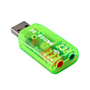 Mini USB 2.0  la 3D audio adaptateur de carte son virtuel 5.1 canaux (smq5675)