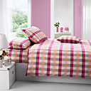 4 Pc 100 Percent Cotton Satin Duvet Cover Set(0580 -0S200001M)