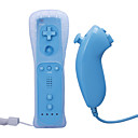 tlcommande et le Nunchuk avec tui pour Wii / Wii u (bleu)
