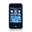 V8 Dual Card Quad Band Java TV Function FM Touch Screen Cell Phone Black (2GB TF Card)