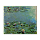 Handmade Water Lilies 43 Painting  by Claude Monet Stretched Ready to Hang (0192-YCF103504)