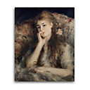 Handmade Thoughtful La Pensee Painting by Pierre-Auguste Renoir(0192-YCF103078)