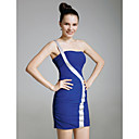 Elastic Woven Satin Sheath/ Column One Shoulder Short/ Mini Cocktail Dress inspired by Grammy