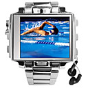 4GB 1.8 Inch LCD Screen Stainless Watch MP4 (KLY278)