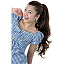 Synthetic Hairpiece Long Coffee with Brown Curly Ponytail 0463-467