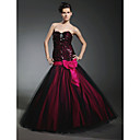 Trumpet/ Mermaid Sweetheart Floor-length Sequined Tulle Prom Dress