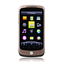 JIXIN X1 GPS WIFI TV Dual Card Dual Camera 3.2 Inch Touch Screen Cell Phone Brown(2GB TF Card)