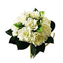 Beautiful Silk Rose With Chiffon Decoration Round Wedding Bouquet/ Bridal Bouquet